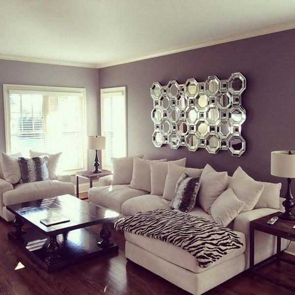 Luxury Purple Painted Walls.