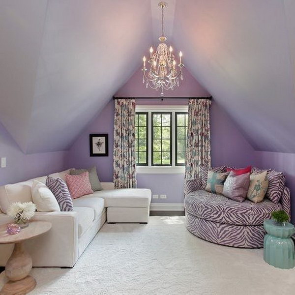 Lavender Living Room Painting.