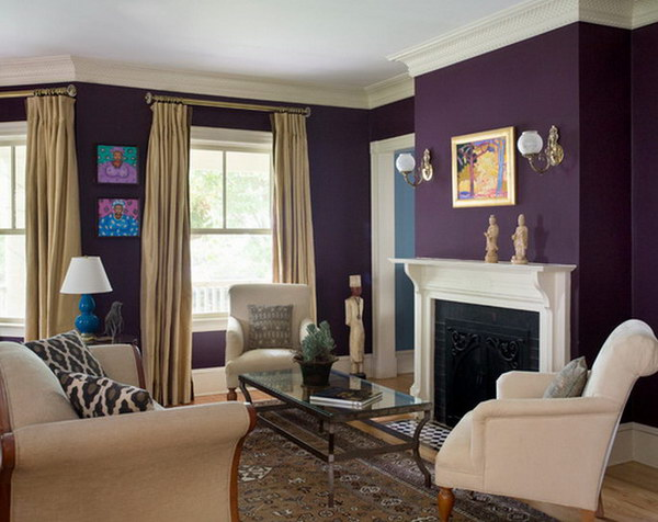 Plum Island Purple Living Room.