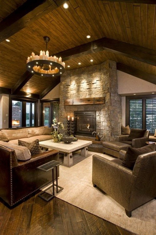 Modern Meets Rustic in The Living Space.