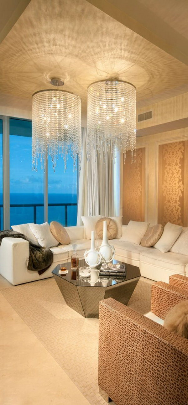 Beige Living Room Design.