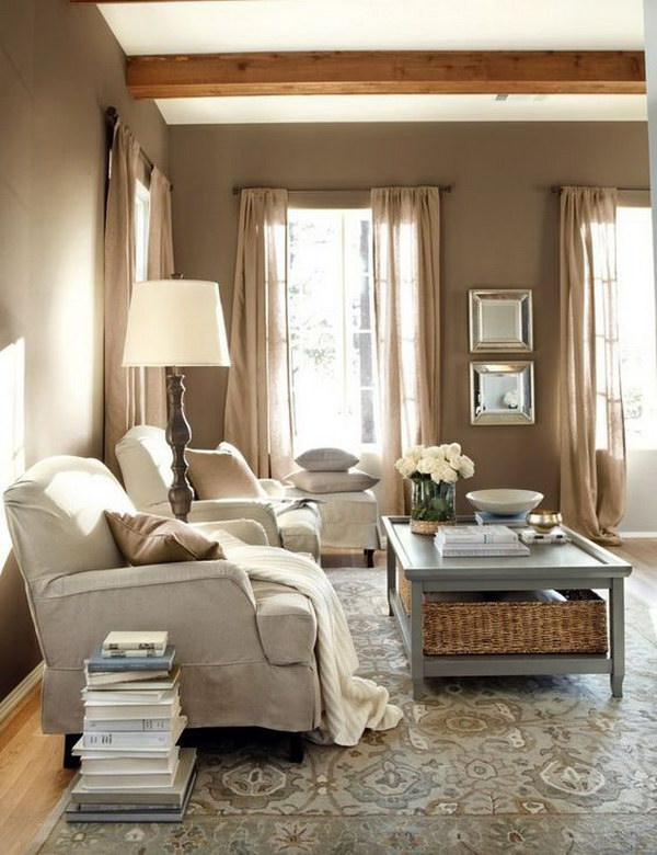 Gray Themed Living Room.