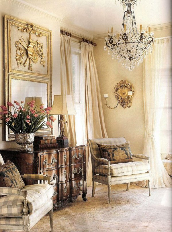Golden Brown Inspired Living Room.
