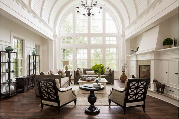 Superb Updated Traditional Living Room. Design Inspirations