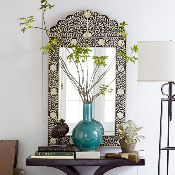 Intricately Detailed Mirror.