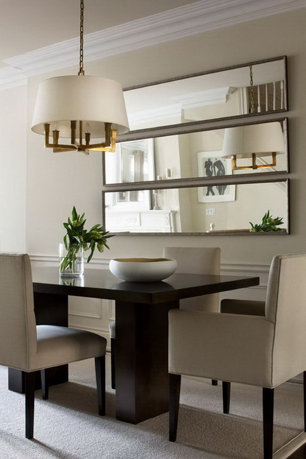 Small Dining Room with Wall Mirrors.