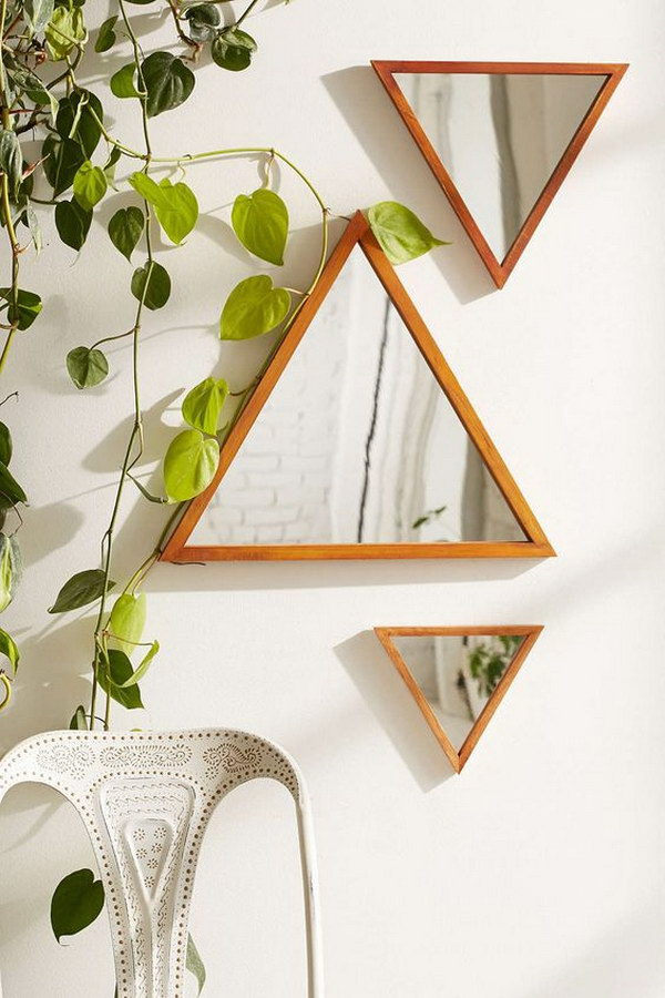 Pyramid Mirror Wall Art.