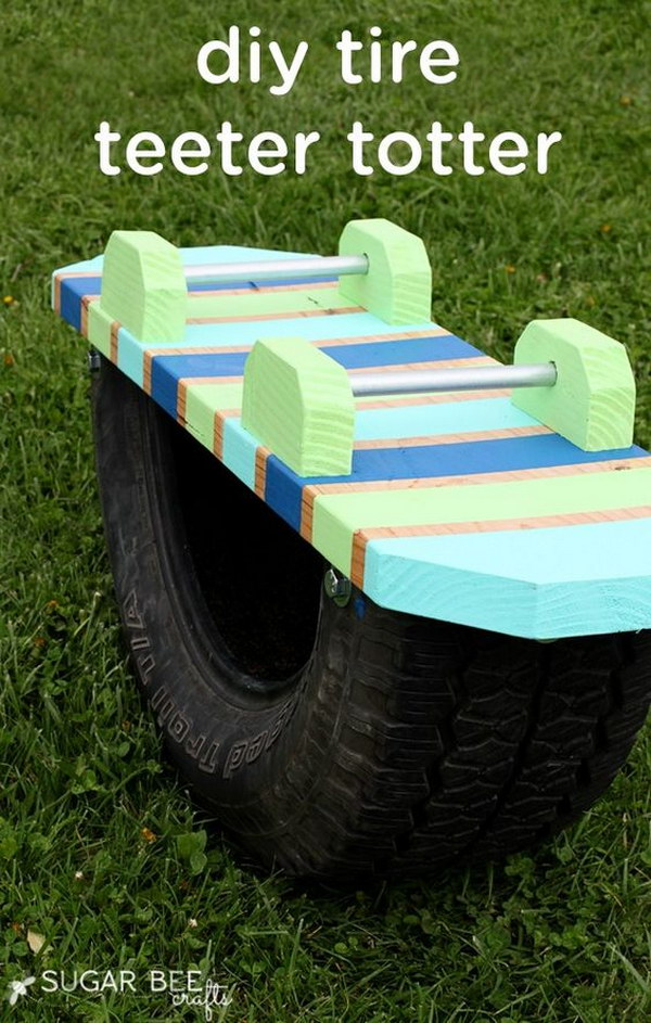 DIY Tire Teeter Totter.