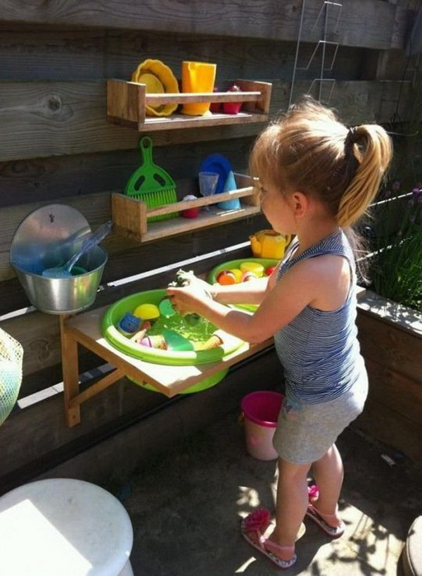 Cute Outdoor Play Kitchen