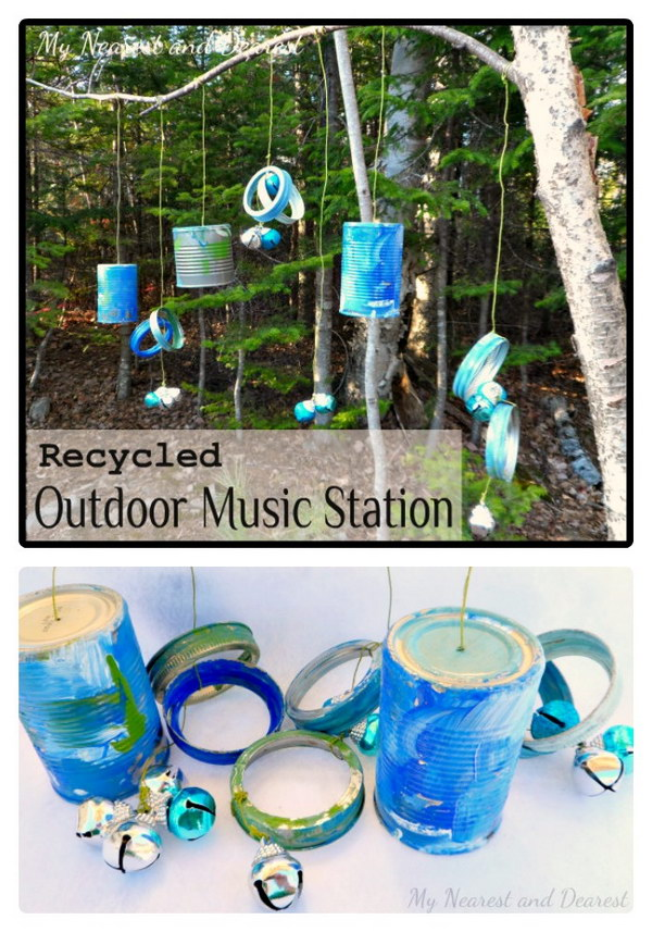 DIY Musical Kids Outdoor Play Area.