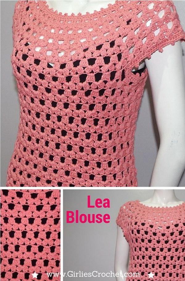 Free Crochet Lea Blouse Pattern