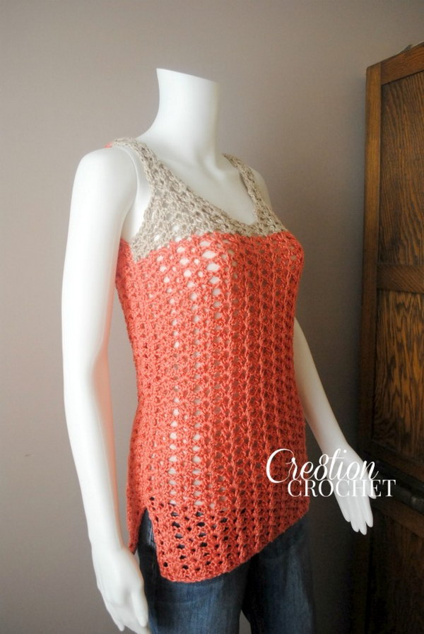 Free Crochet Patterns Women s Tank Tops : Summer Crochet Projects With Free Patterns And Tutorials 2017