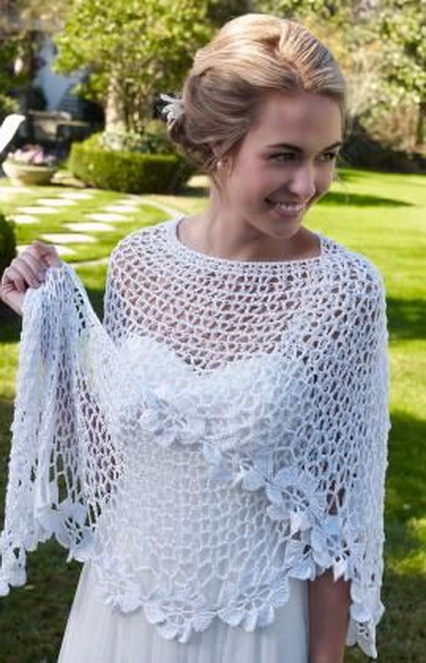 Spring Blooms Crochet Shawl Pattern