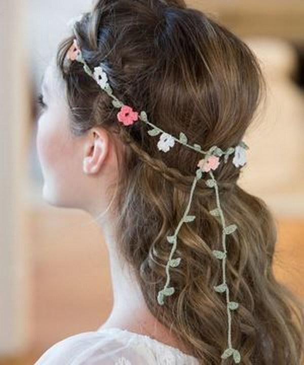 Floral Crochet Headband Free Pattern
