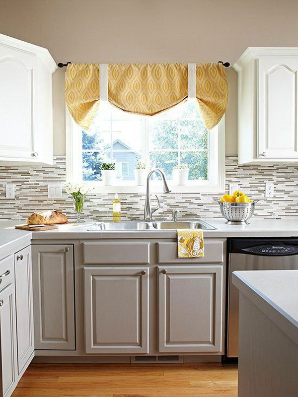 Dusty Gray and White Kitchen Cabinets.