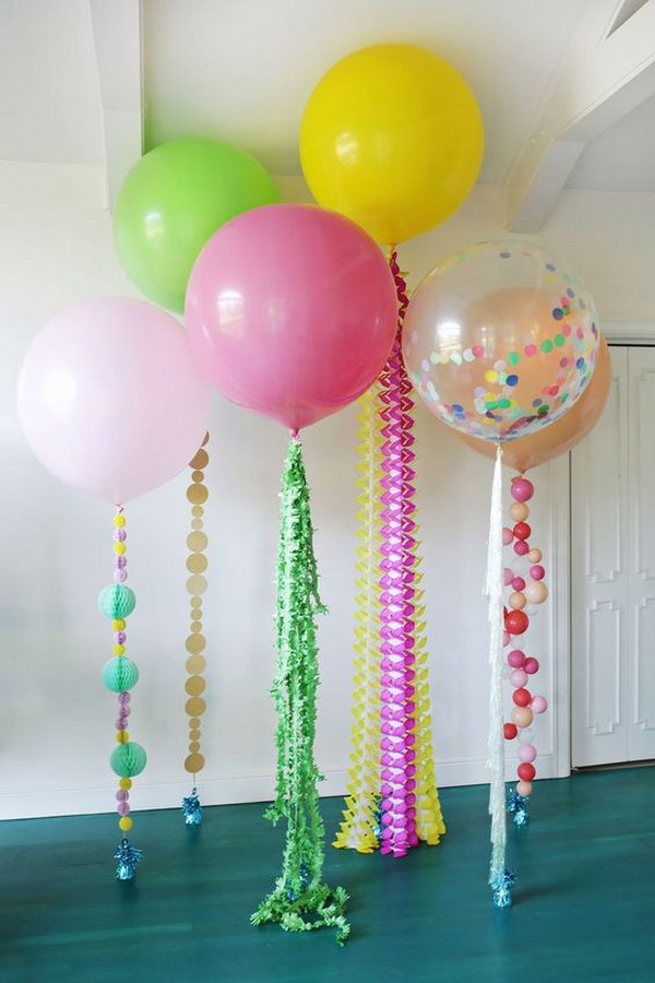 DIY Tutorial For Cute Balloon Decorations.