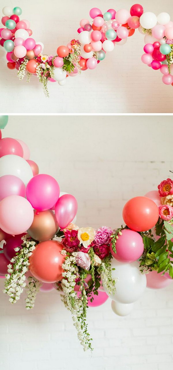Balloon Arch with Flowers & Awesome Balloon Decorations 2017