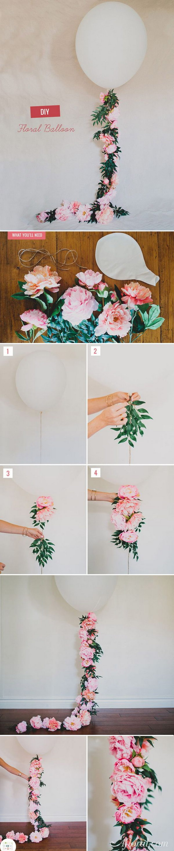 Gorgeous Floral Garland Balloon.