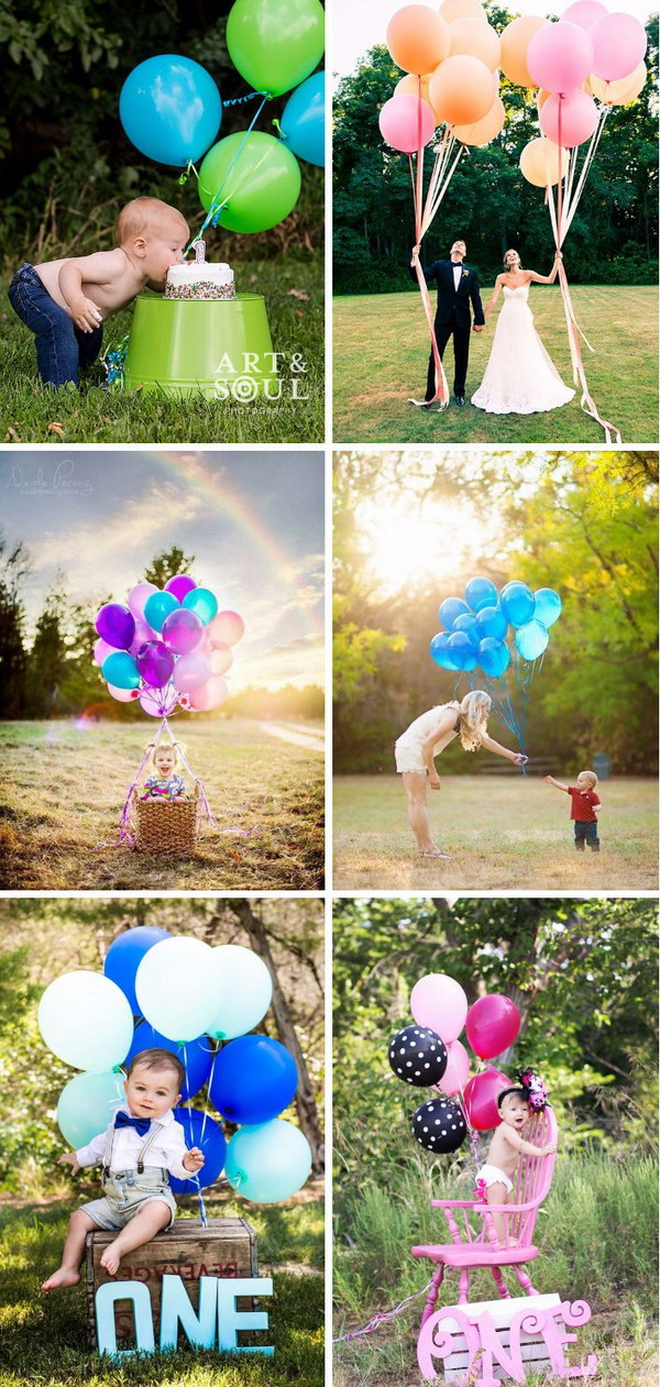 Baby Photo With Balloons.