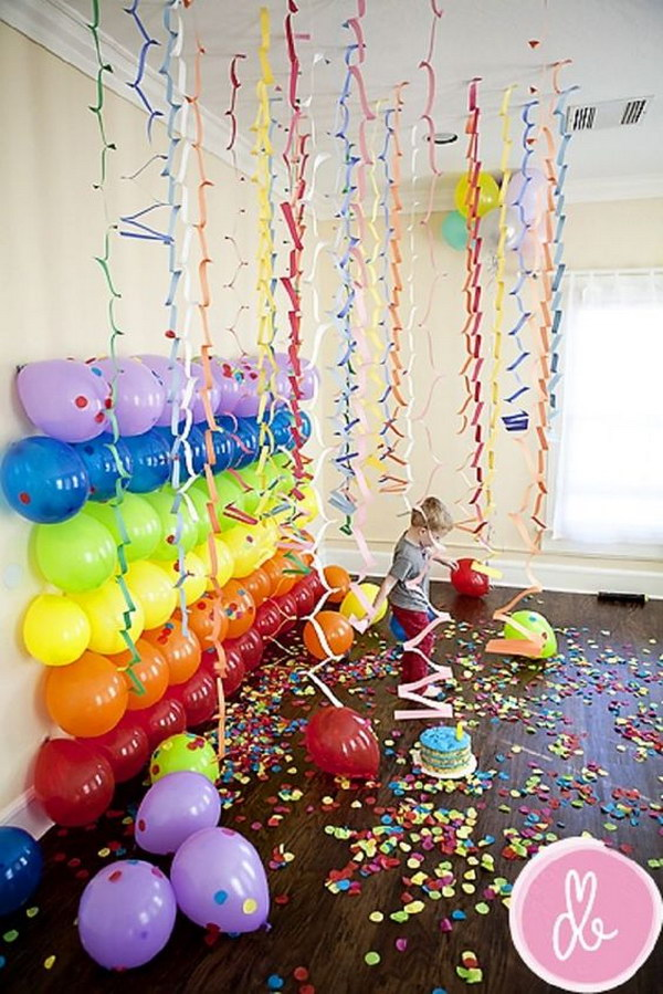 Balloons on the Wall.