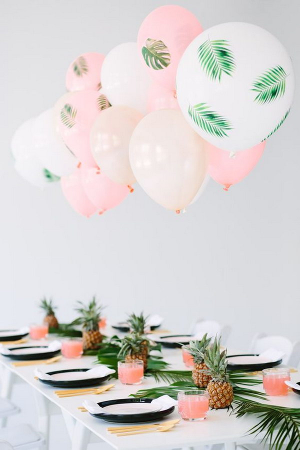 DIY Palm Leaf Balloons.