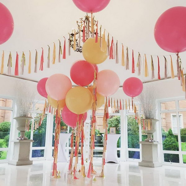 Awesome balloon decorations 2017 for Ballon wedding decoration