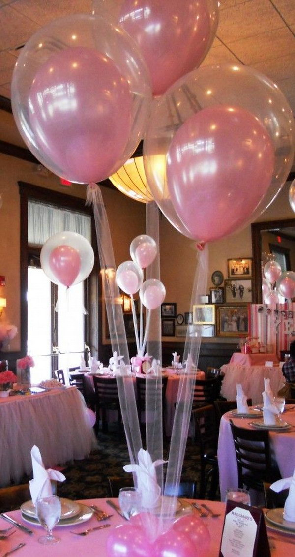 Double Stuffed Balloons (Use Tulle Instead Of Cheap String).