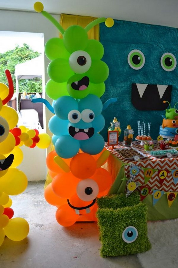 Awesome balloon decorations 2017 for Balloon decoration ideas for 1st birthday