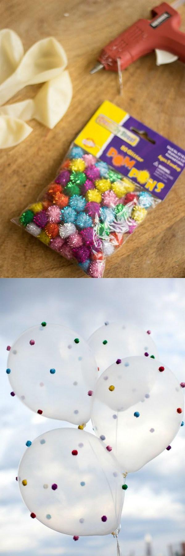 Pom Pom Balloons.