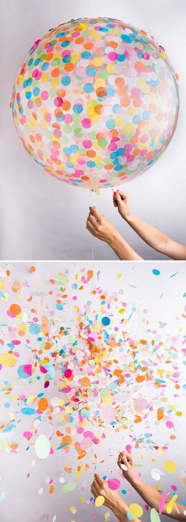 Colorful Confetti Balloon.