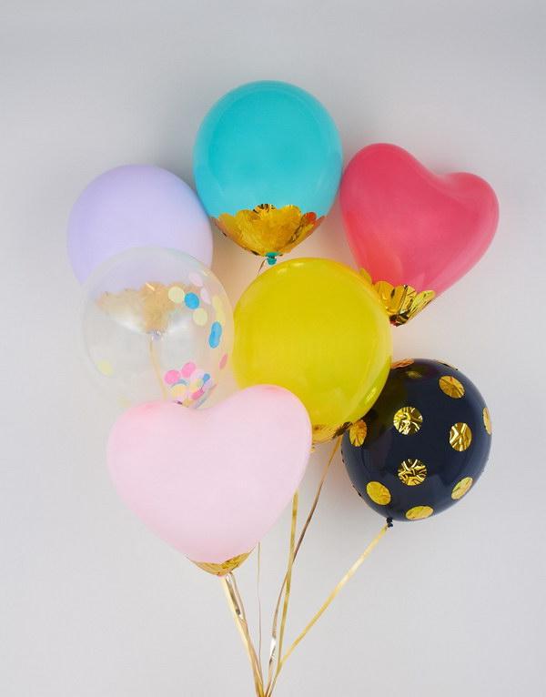 DIY Confetti Balloons.