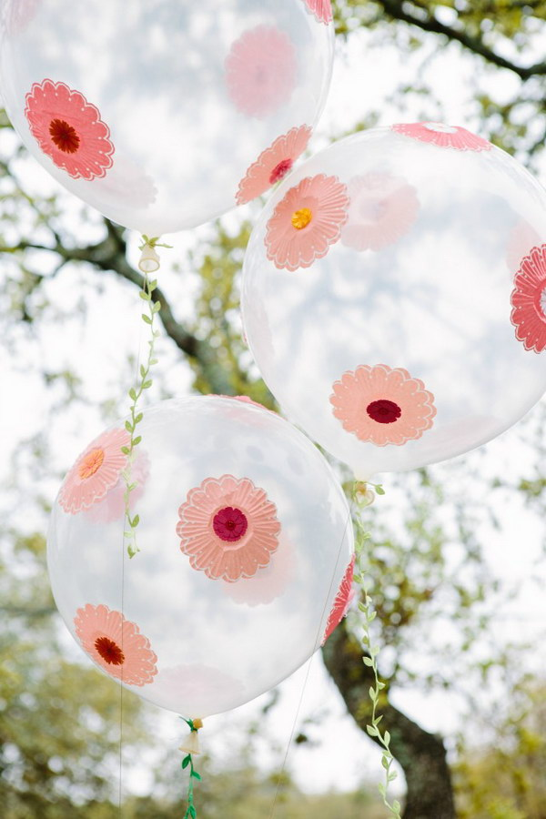 Easy Paper Flower Balloons.