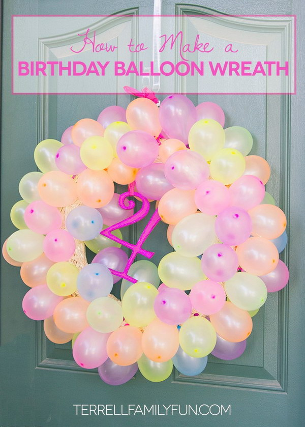 Simple balloon decoration for birthday at home Home decor