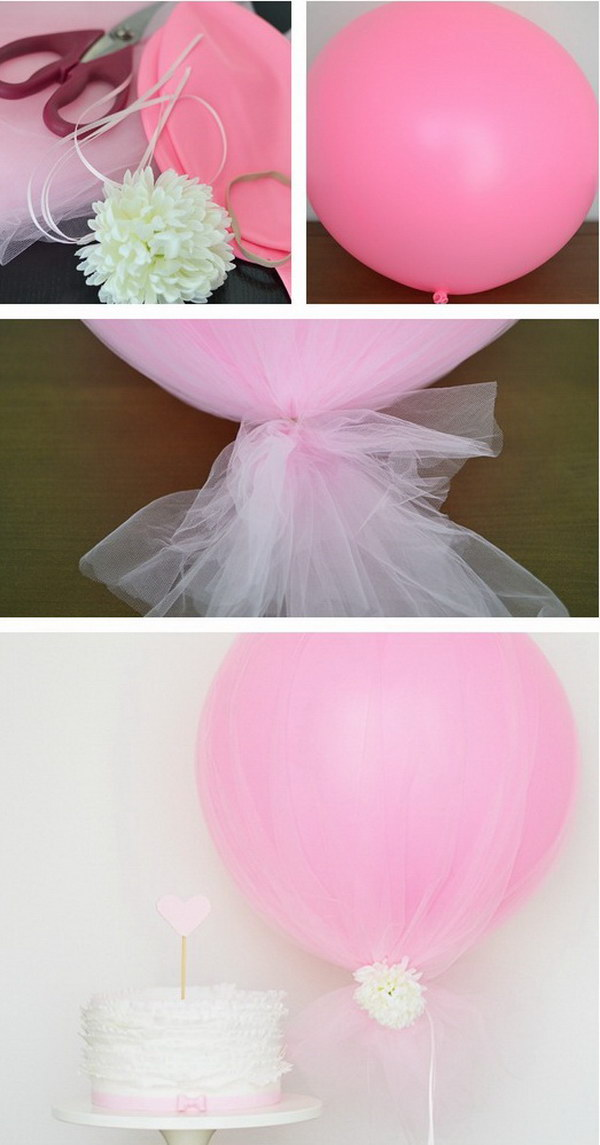 DIY Tulle Balloon.