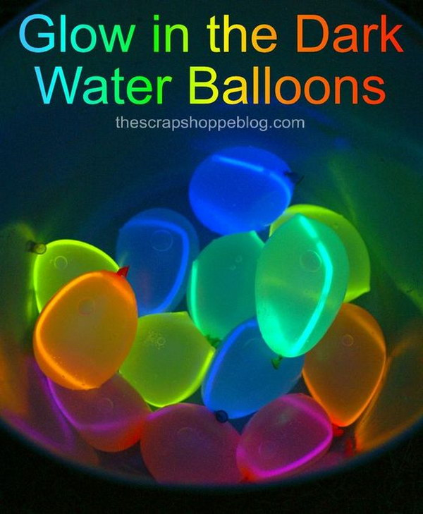 DIY Glow In The Dark Balloons.