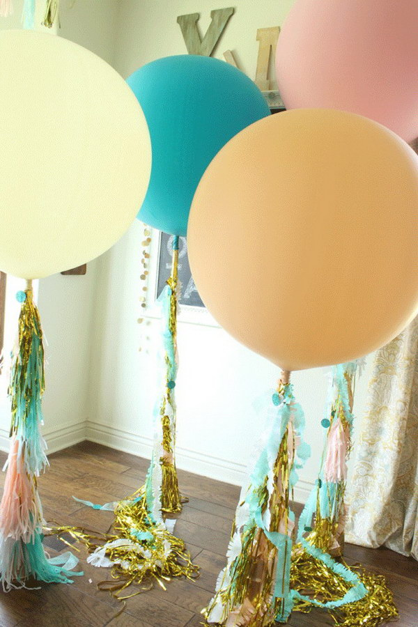 Giant Balloons Look Like They Are Filled With Helium Without Spending A Fortune Of Money.