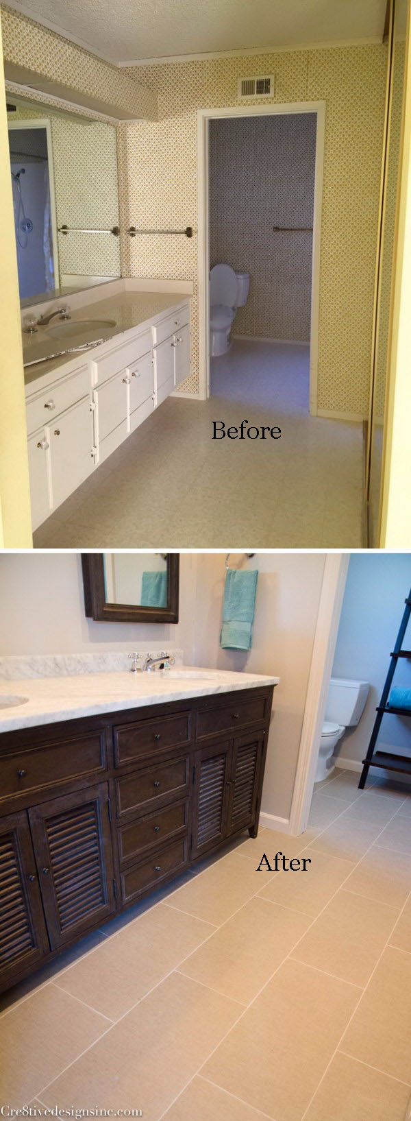 From Single Sink to Double Sink Bath Remodel.