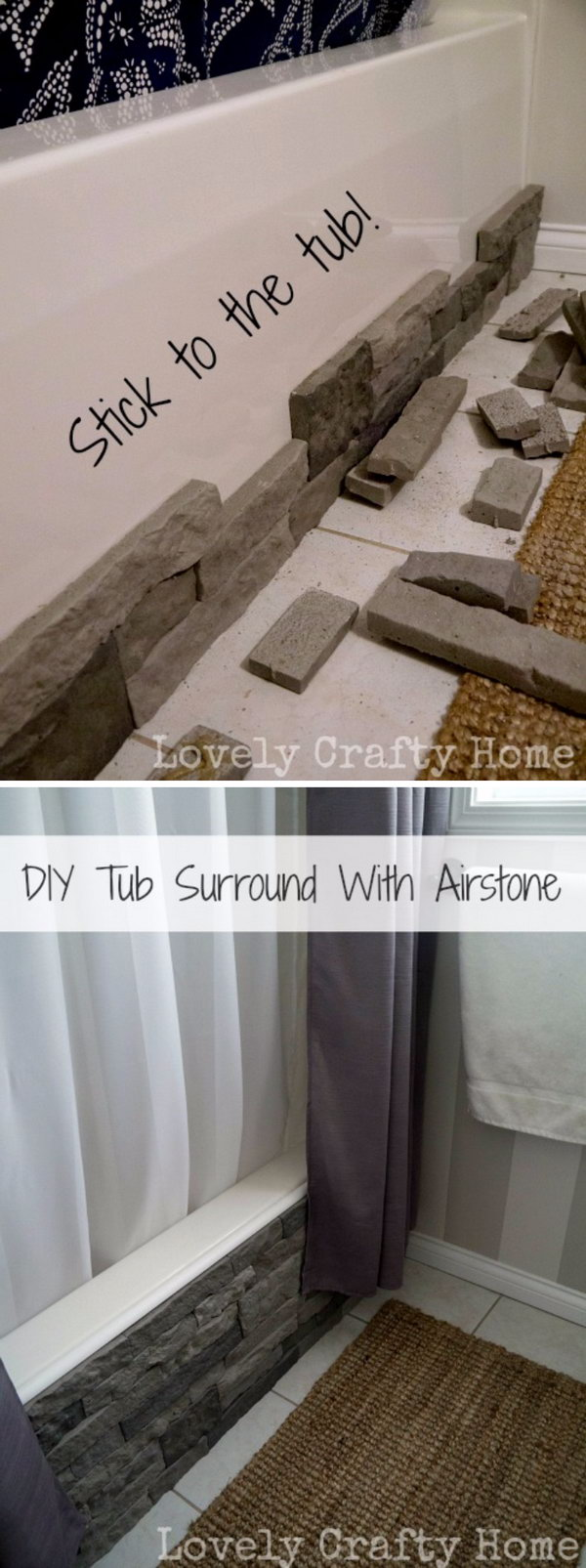 Update Your Boring Builder Bathtub With Airstone.