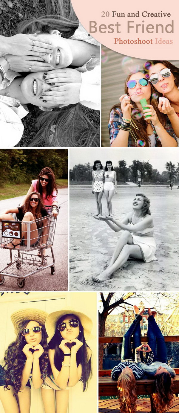 Fun and Creative Best Friend Photoshoot Ideas.