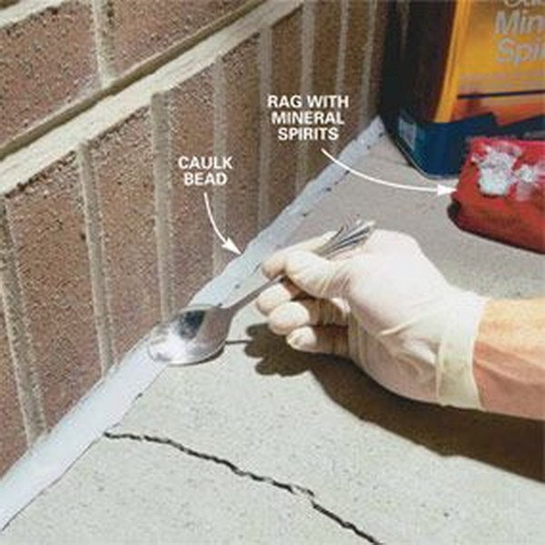 Seal Cracks In Concrete With Durable Urethane Caulk.