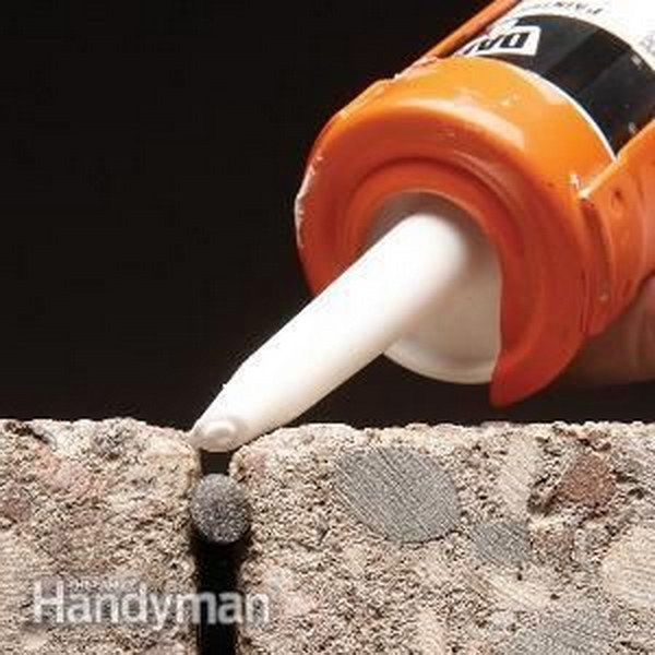 Fill Wide Cracks With Foam Backer Rod Before Caulking.