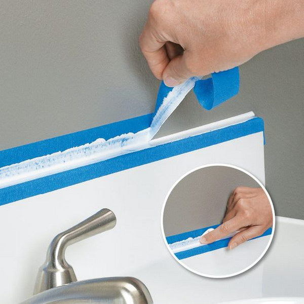 Use tape to Make a Straight, Smooth Caulk Line.
