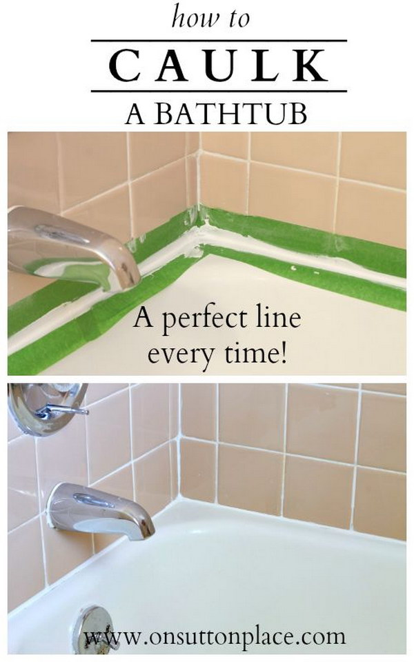 How To Caulk A Bathtub.