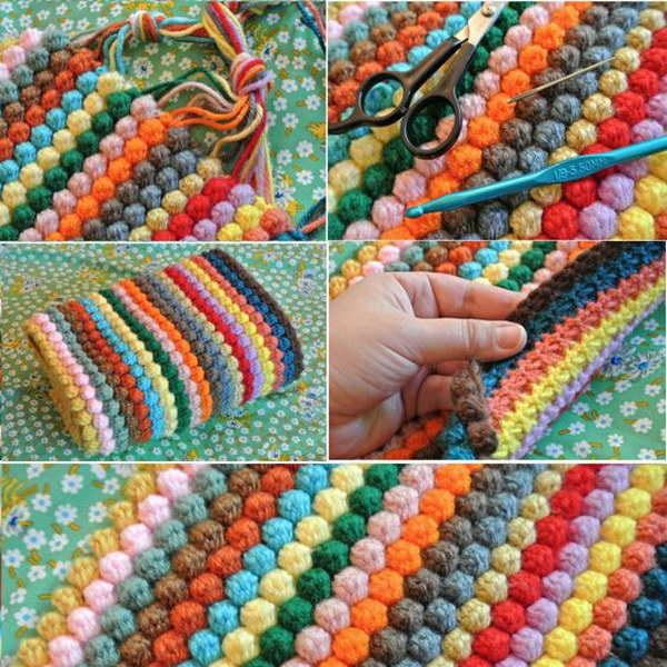 Bobble Crochet Blanket.
