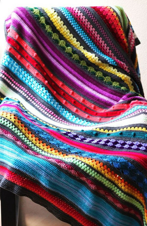 Rainbow Sampler Blanket.