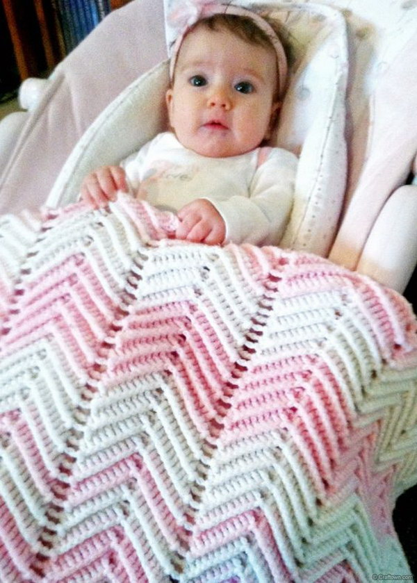Pretty in Pink Chevron Blanket.