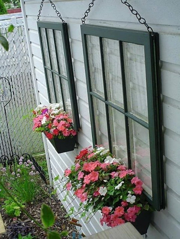 Window Pane Decorative Hanging Gardens.
