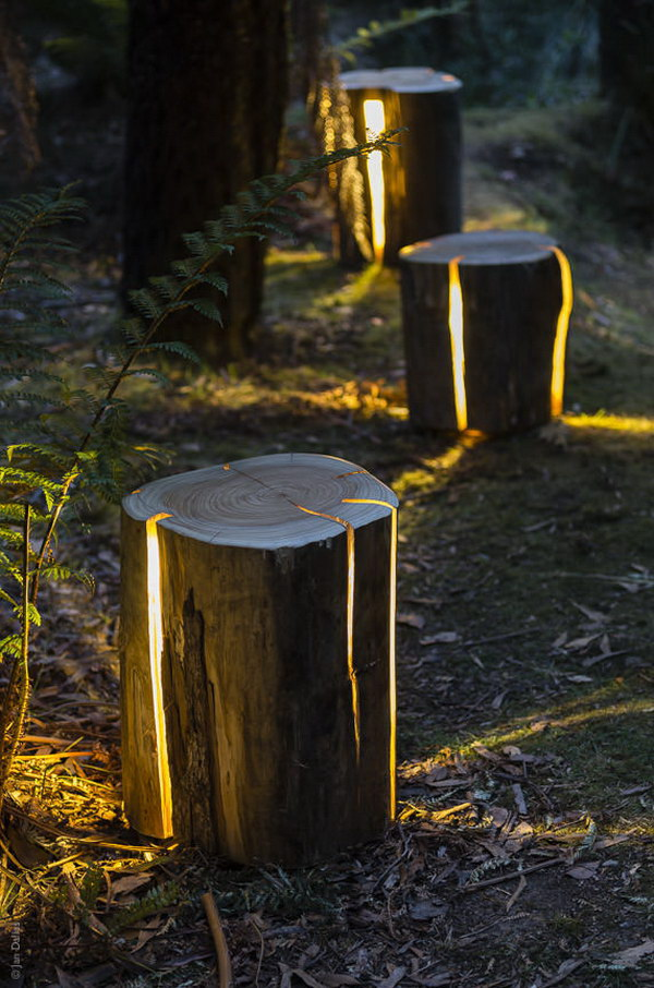 Cracked Log Lamps.