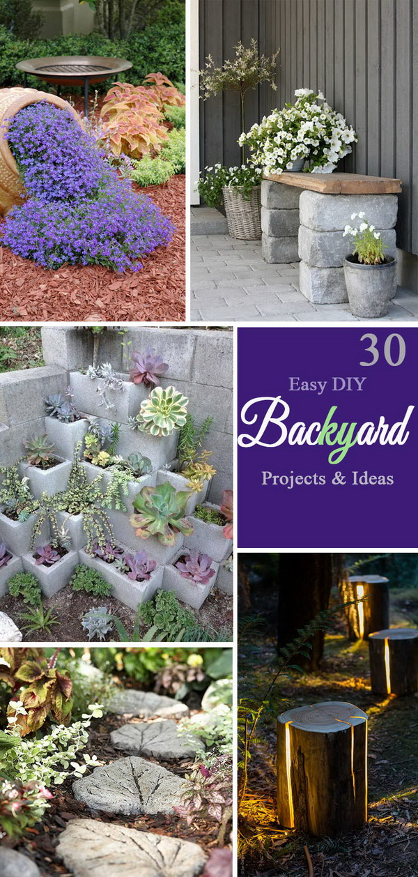 diy backyard ideas 30 easy diy backyard projects amp ideas 2017 10846
