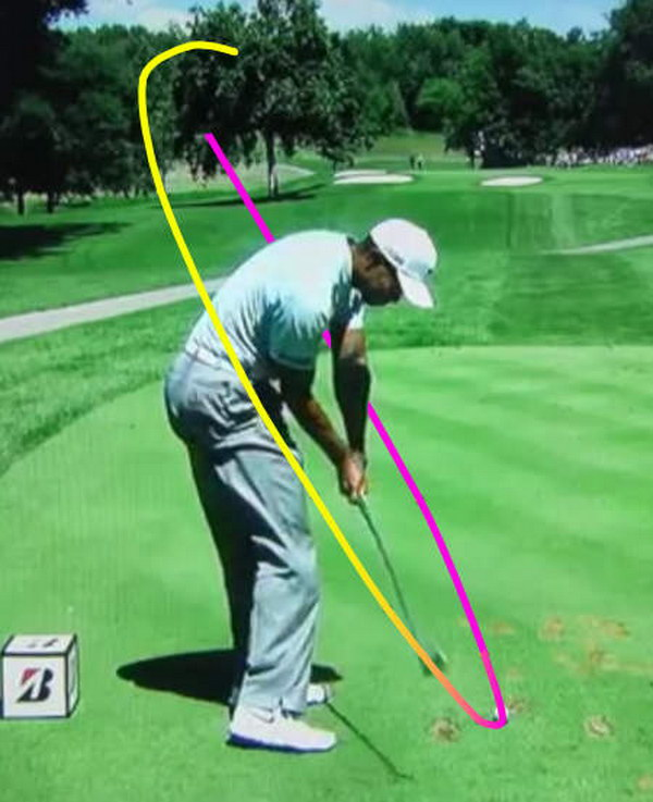 The golf swing must always follow a tilted circle.